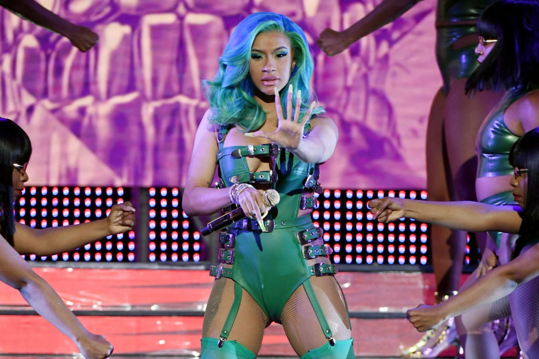 LAS VEGAS, NEVADA - JANUARY 26:  Rapper Cardi B performs during the 2019 Adult Video News Awards at The Joint inside the Hard Rock Hotel & Casino on January 26, 2019 in Las Vegas, Nevada.  (Photo by Ethan Miller/Getty Images)