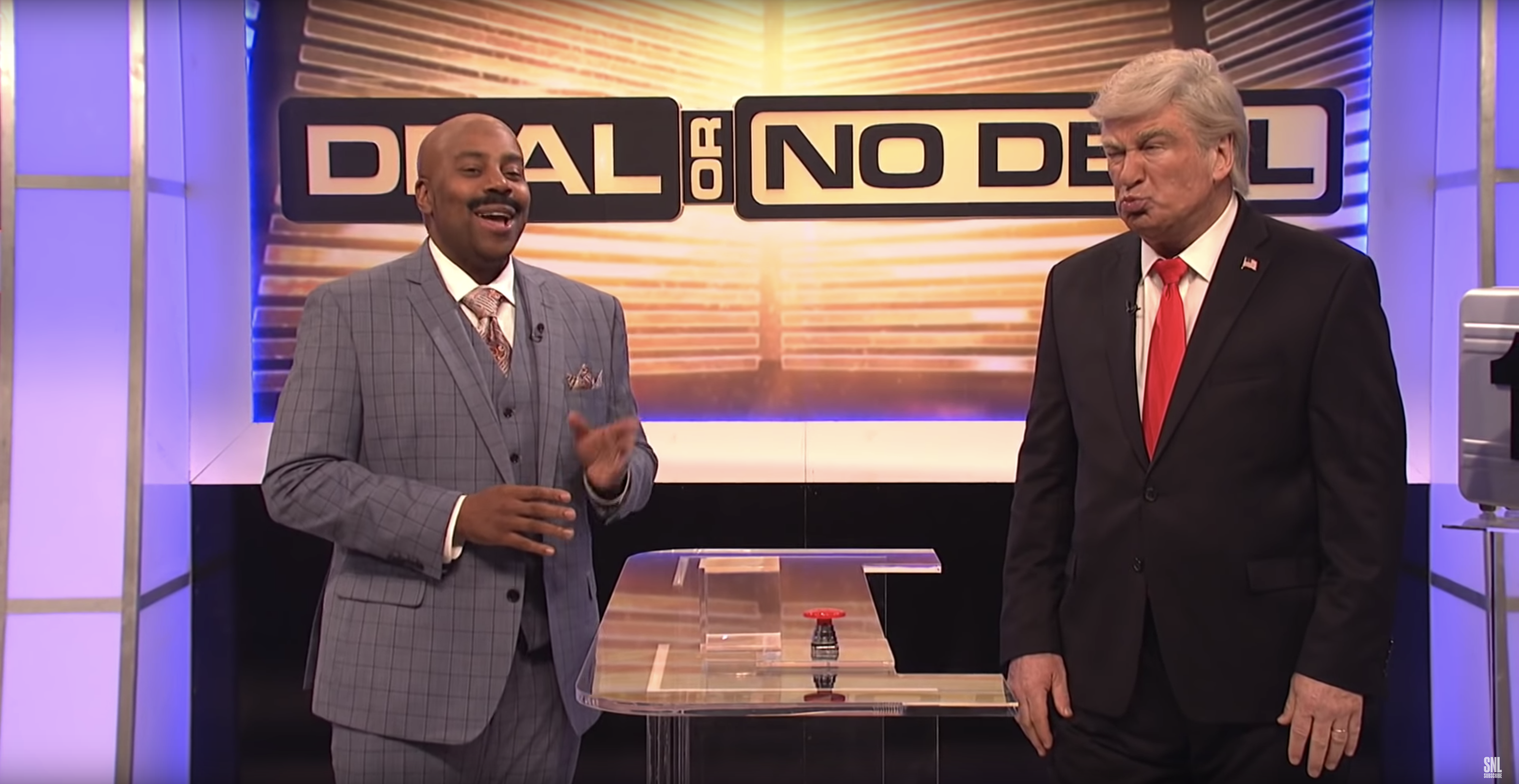 'SNL': Watch Alec Baldwin's Trump End Government Shutdown With 'Deal or No Deal'