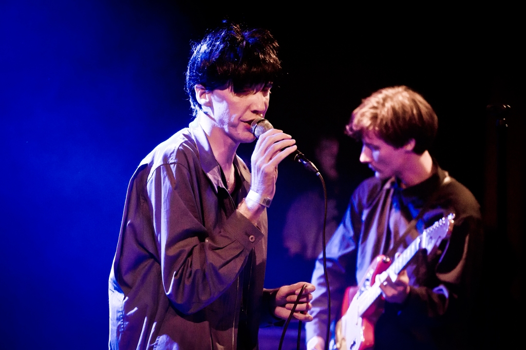 BERLIN, GERMANY - JUNE 13: Singer Bradford Cox of the American band Deerhunter performs live on stage during a concert at the Festsaal Kreuzberg on June 13, 2018 in Berlin, Germany. (Photo by Frank Hoensch/Redferns)