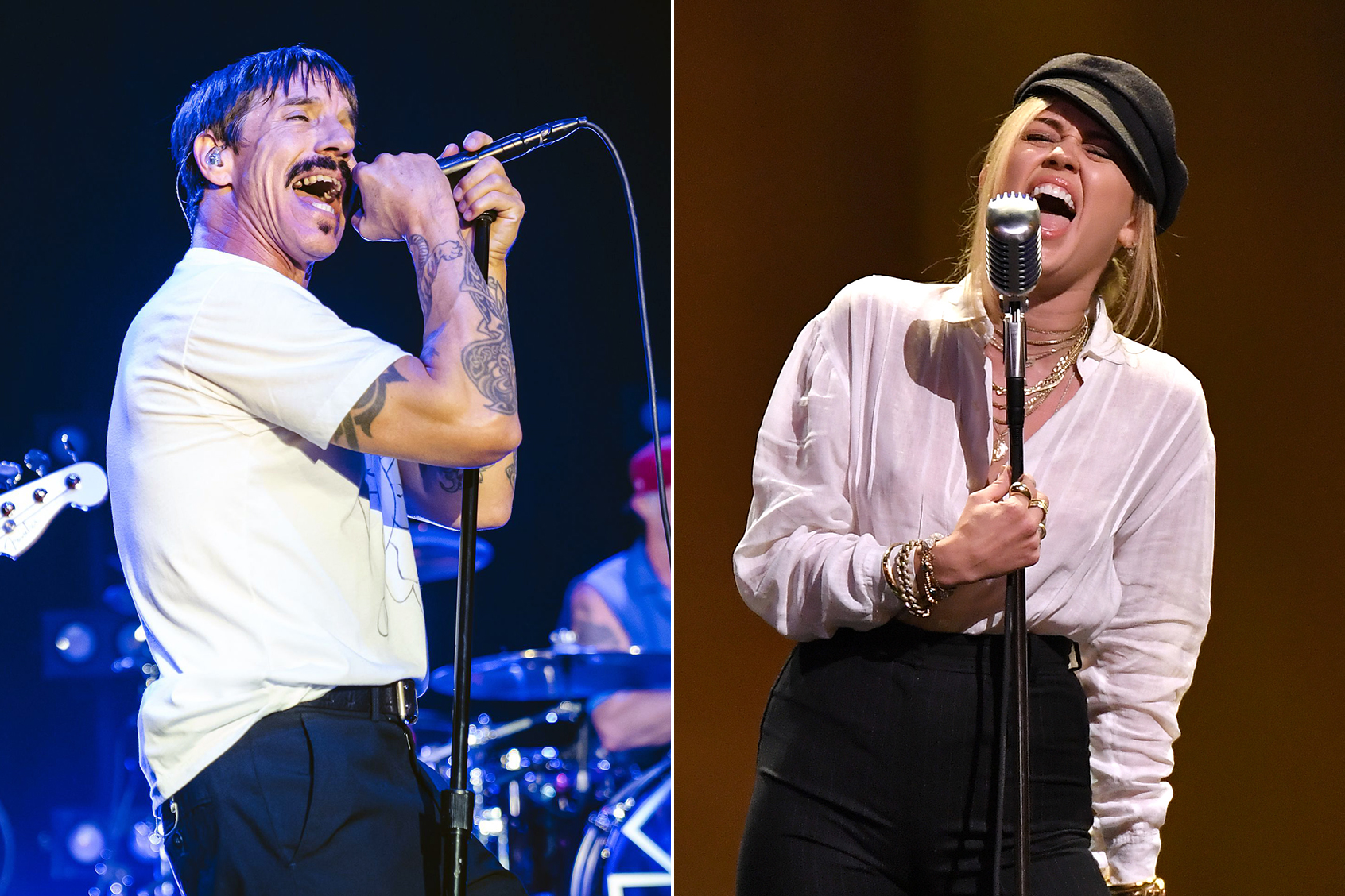 Anthony Kiedis Of Red Hot Chili Pepperiley Cyrus