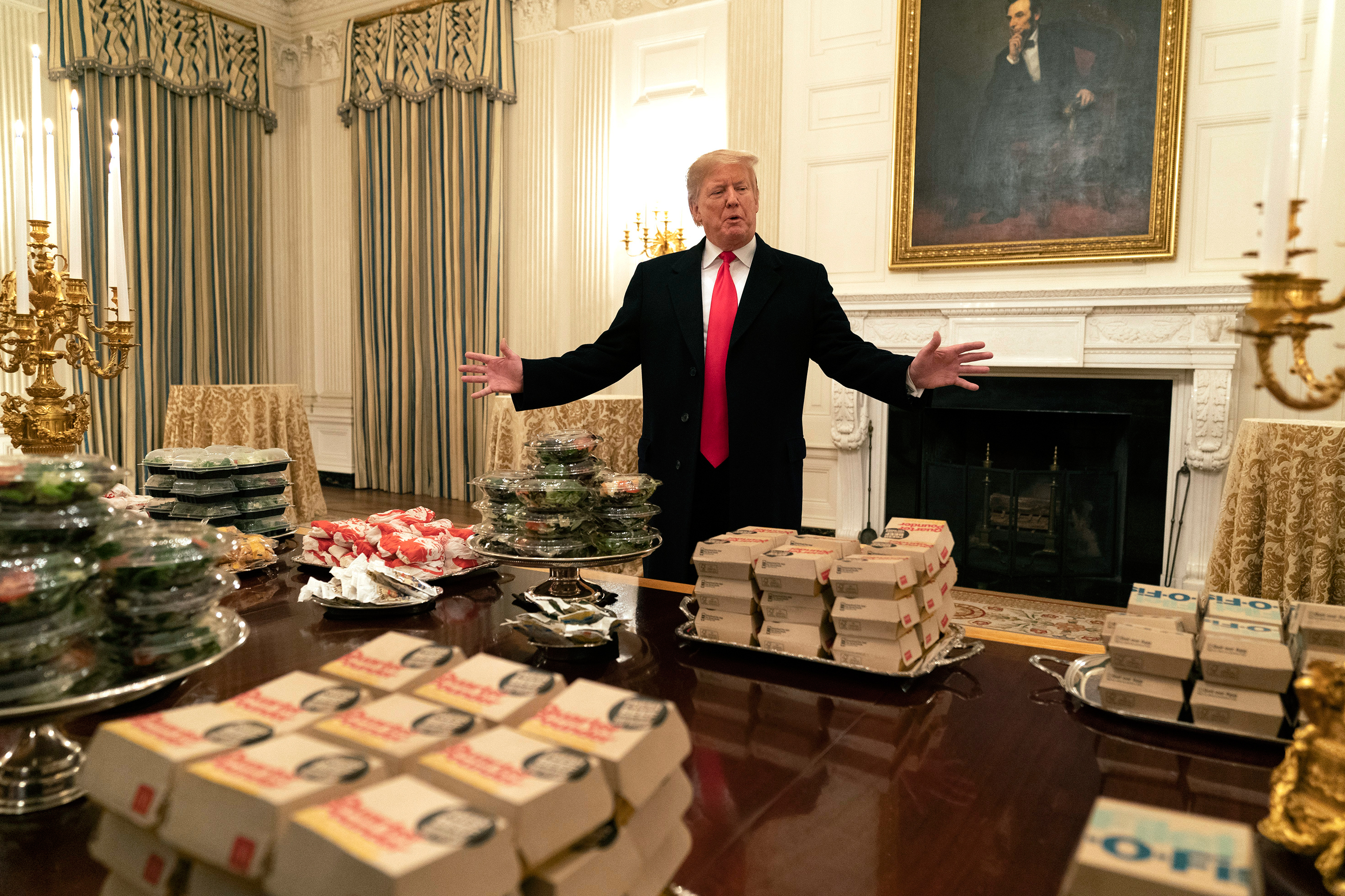 Trump Lies About Size Of White House Fast Food Feast Rolling Stone