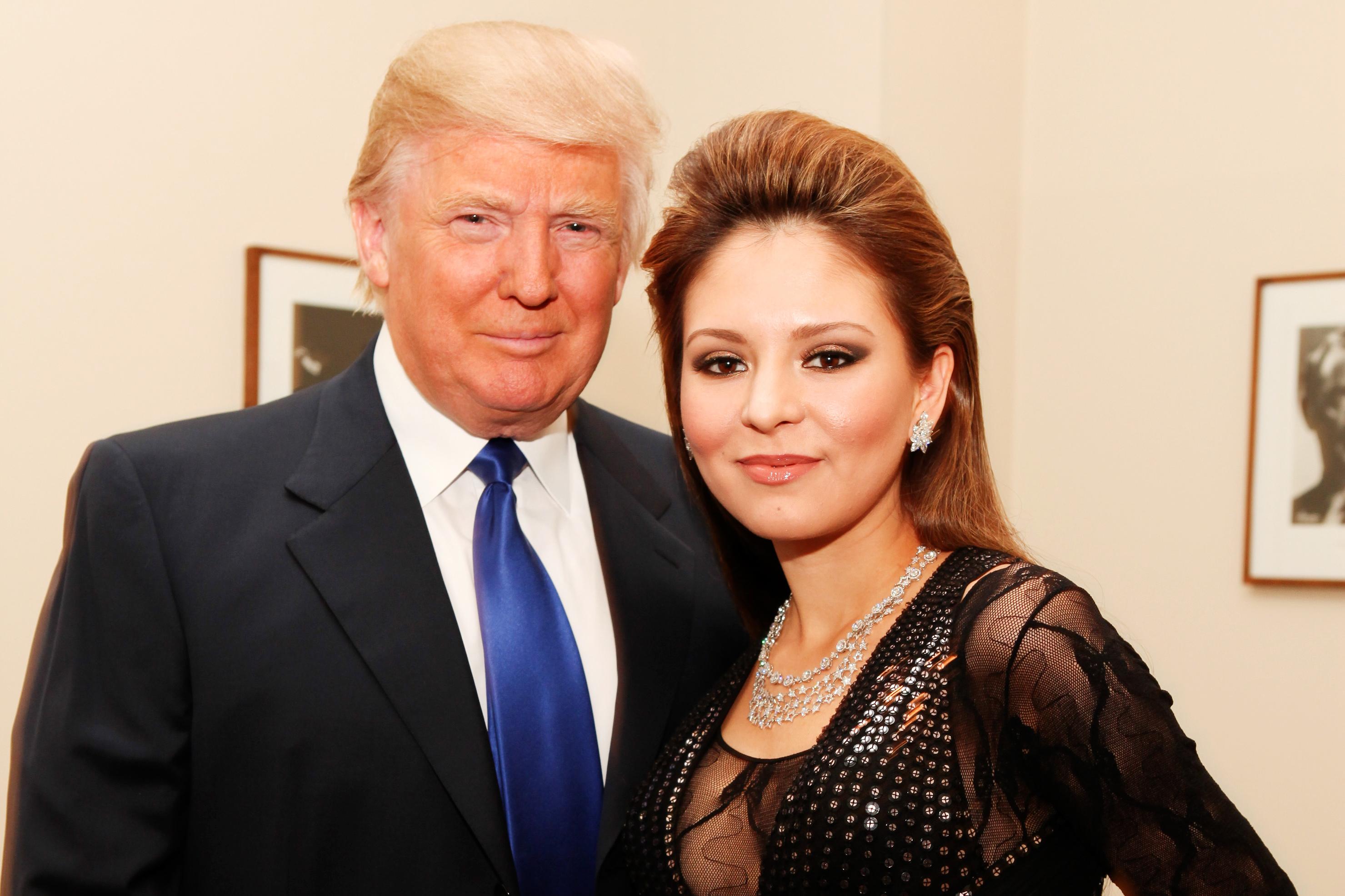 291b2413f64 NEW YORK - JANUARY 19  Donald Trump and pianist Lola Astanova pose  backstage Lola s performance