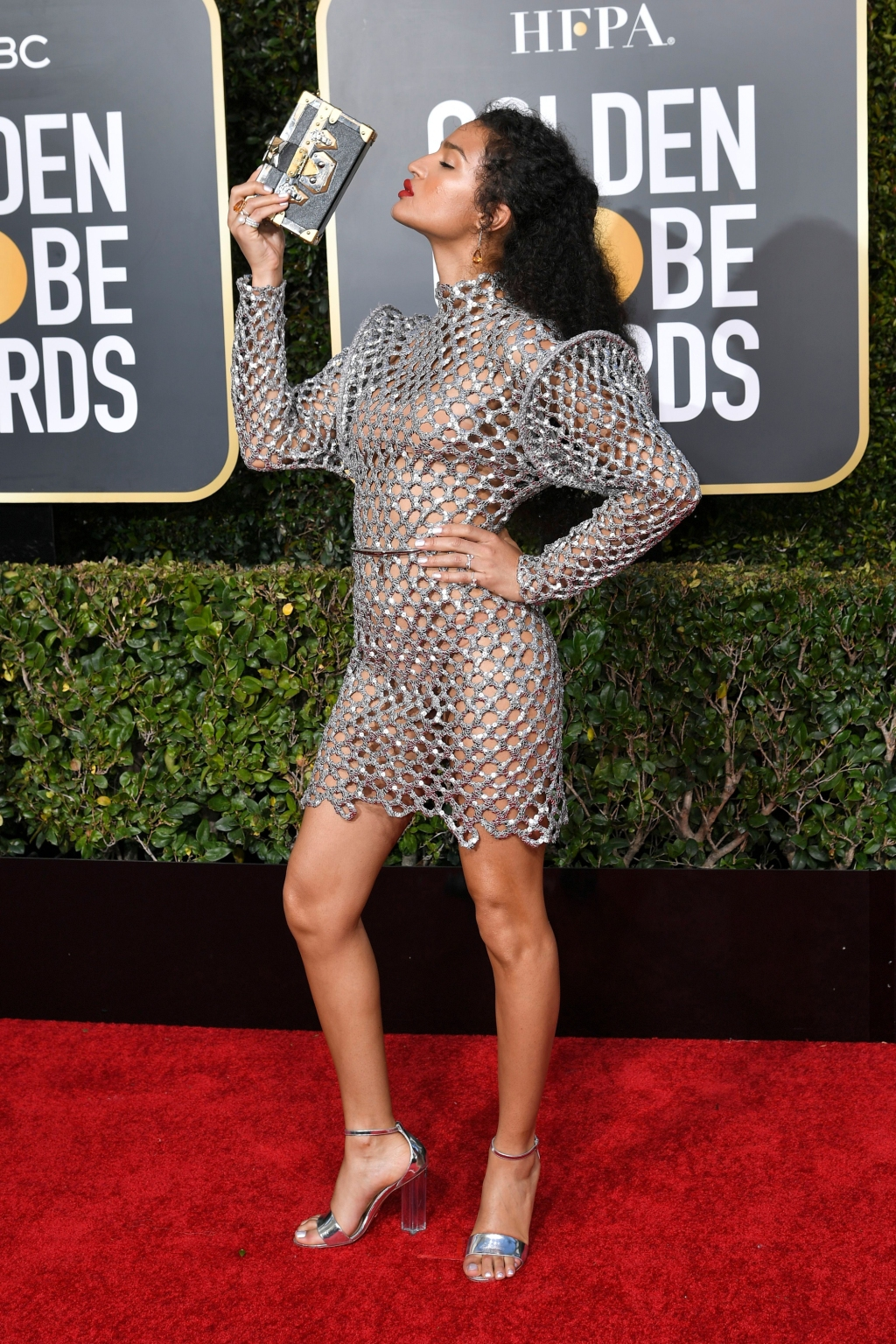 Indya Moore attends the 76th Annual Golden Globe Awards at The Beverly Hilton Hotel on January 6, 2019 in Beverly Hills, California.