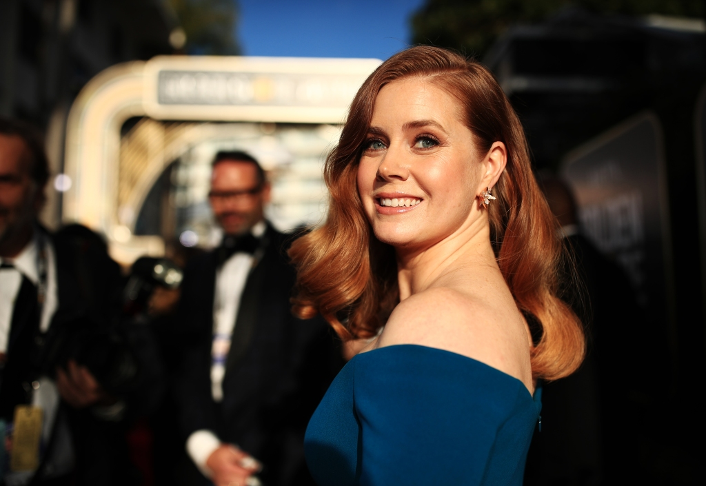 Amy Adams arrives to the 76th Annual Golden Globe Awards held at the Beverly Hilton Hotel on January 6, 2019.