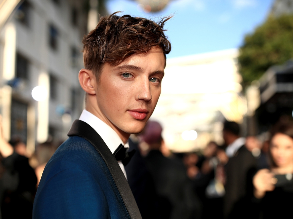 Troye Sivan arrive to the 76th Annual Golden Globe Awards held at the Beverly Hilton Hotel on January 6, 2019.