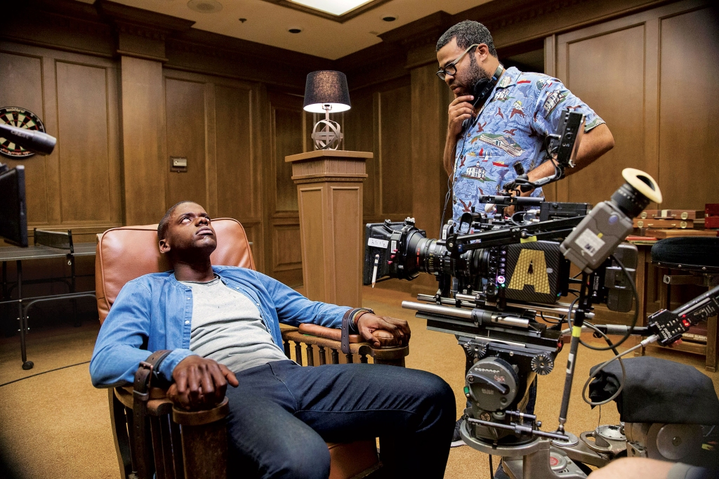 Daniel Kaluuya and Jordan Peele filming the game-room scene of Get Out.Justin Lubin/courtesy of Universal Pictures