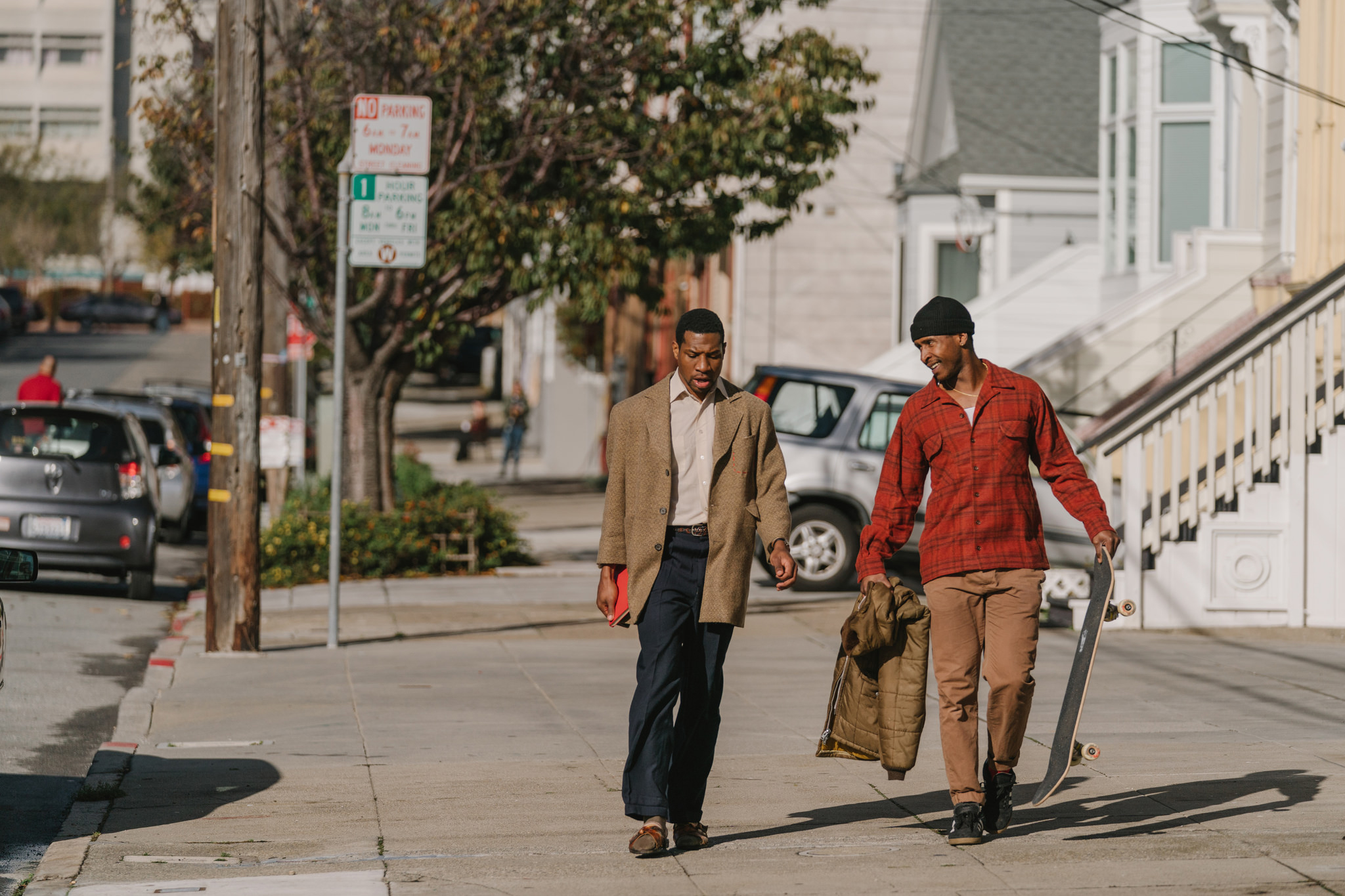 Jonathan Majors and Jimmie Fails in 'The Last Black Man in San Francisco.'
