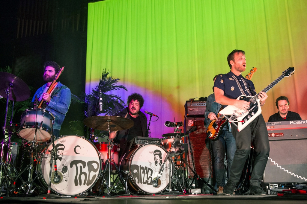 Dan Auerbach, Leon Michels, Nick Movshon, Homer Steinweiss, Richard Swift and Kenny Vaughan with The Arcs performs during the Radio 105.7 Holiday Spectacular at the Tabernacle, in AtlantaRadio 105.7 Holiday Spectacular - , Atlanta, USA