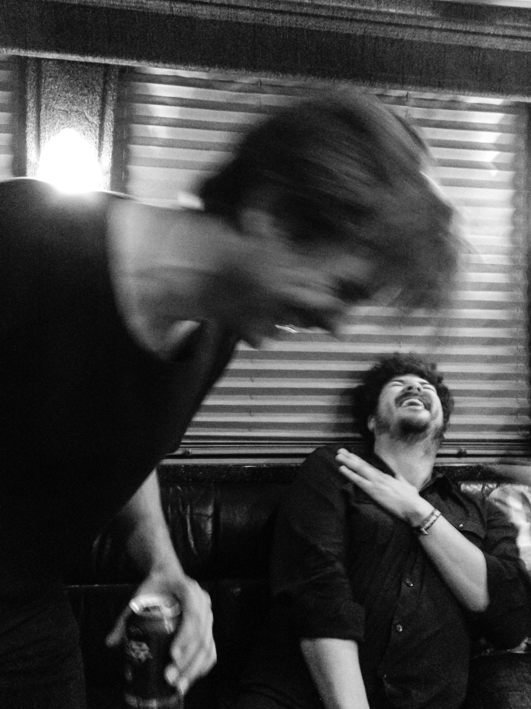Swift, backstage, while on tour with the Shins in 2012.