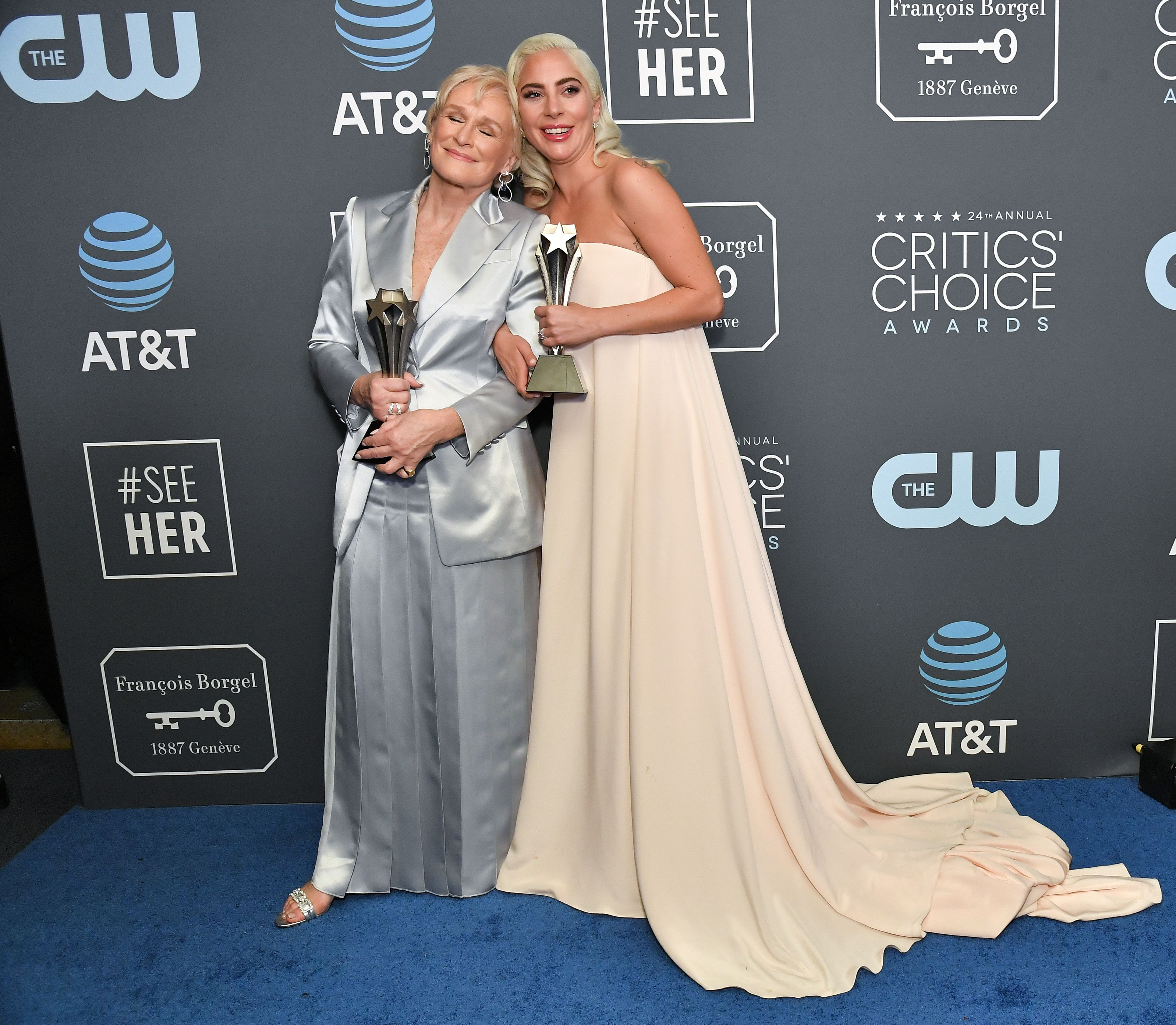 Lady Gaga And Glenn Close Share Best Actress At Critics Choice