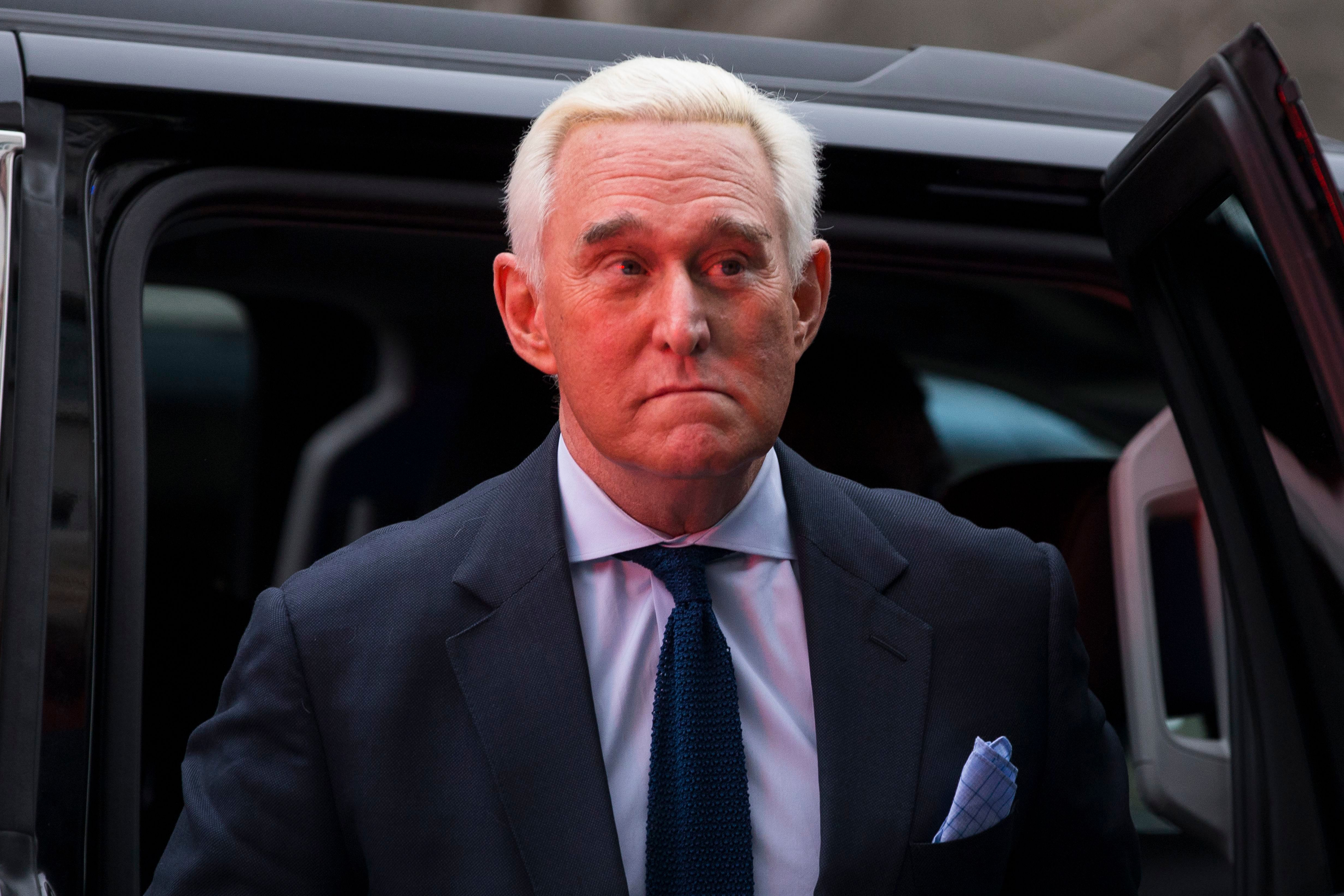 Roger Stone Claims He's Struggling to Pay Rent in Apologetic Court Appearance