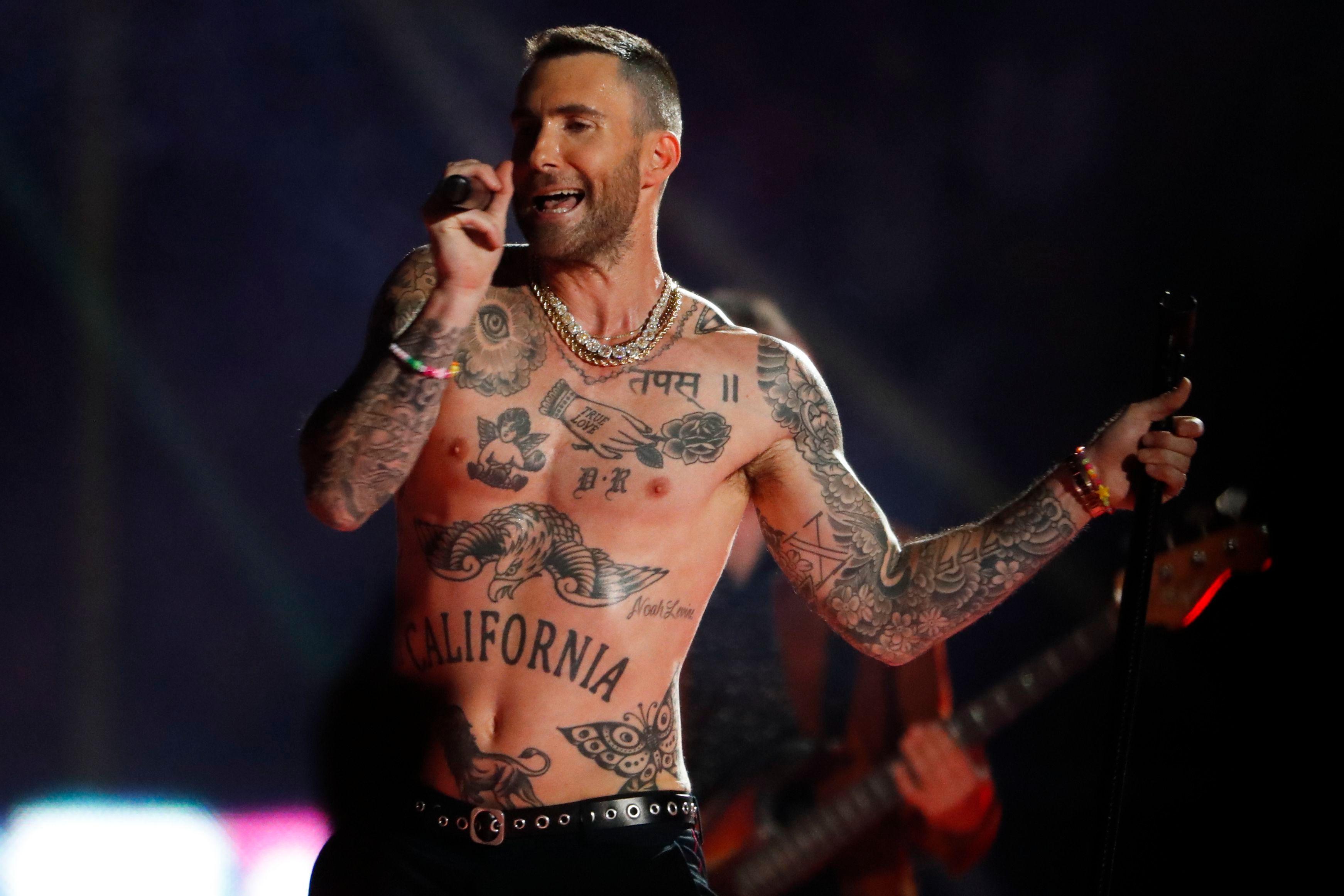 Adam Levine's Nipples at Super Bowl Prompt Complaints to FCC