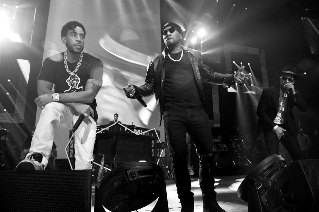 Ludacris, Young Jeezy, and T.I. perform onstage during Bud Light Super Bowl Music Fest / EA SPORTS BOWL at State Farm Arena on January 31, 2019 in Atlanta, Georgia.