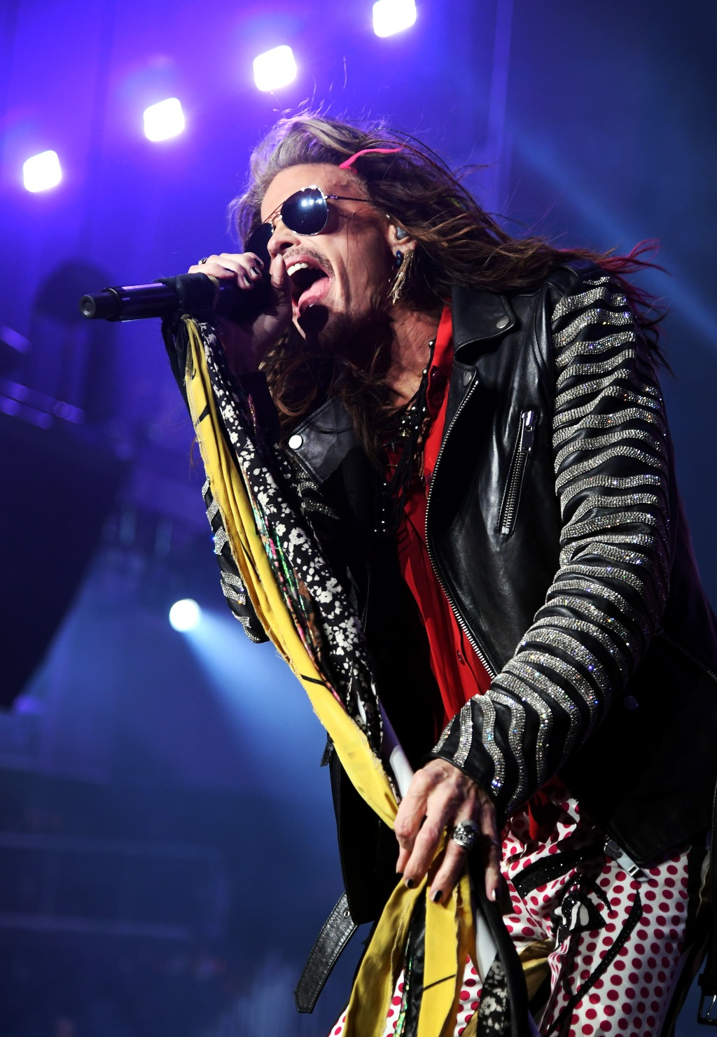 Steven Tyler of Aerosmith performs onstage during Day 2 of Bud Light Super Bowl Music Fest at State Farm Arena on February 1, 2019 in Atlanta, Georgia.
