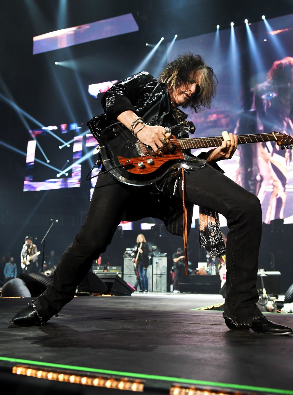 Joe Perry of Aerosmith performs onstage during Day 2 of Bud Light Super Bowl Music Fest at State Farm Arena on February 1, 2019 in Atlanta, Georgia.