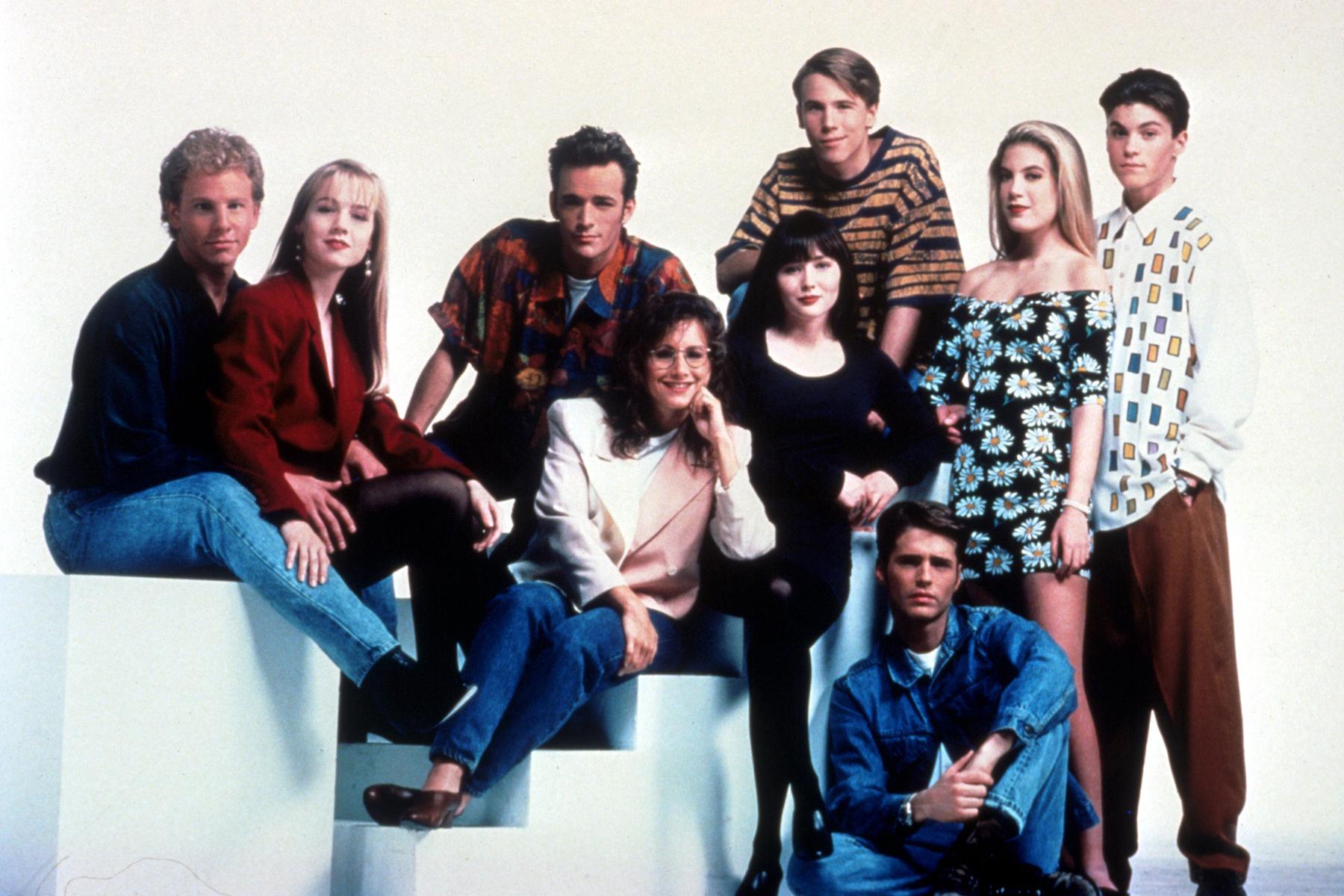Trepida attesa per il Ritorno della serie Beverly Hills 90210. Il cast