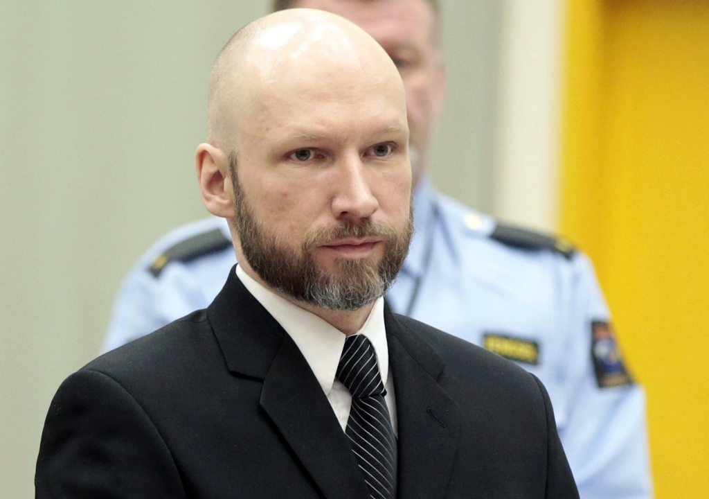anders behring breivikAppeal case of convicted mass murderer Anders Breivik, Skien, Norway - 10 Jan 2017 Anders Behring Breivik (C) with his lawyers Mona Danielsen (L) and Oystein Storrvik (R) at the appeal case in Borgarting Court of Appeal at Telemark prison in Skien, Norway, 10 January 2017. The Norwegian Ministry of Justice and Breivik have both appealed the Oslo District Court's judgment of 20 April 2016 as Breivik is charging Norwegian authorities of violating his human rights by holding him in isolation for almost five years. The Court of Appeal will examine whether Breivik's prison conditions are in violation of the European Convention of Human rights. Mass murderer Anders Behring Breivik was sentenced to a maximum term of 21 years for killing 77 people in bomb and shooting attacks on 22 July 2011.