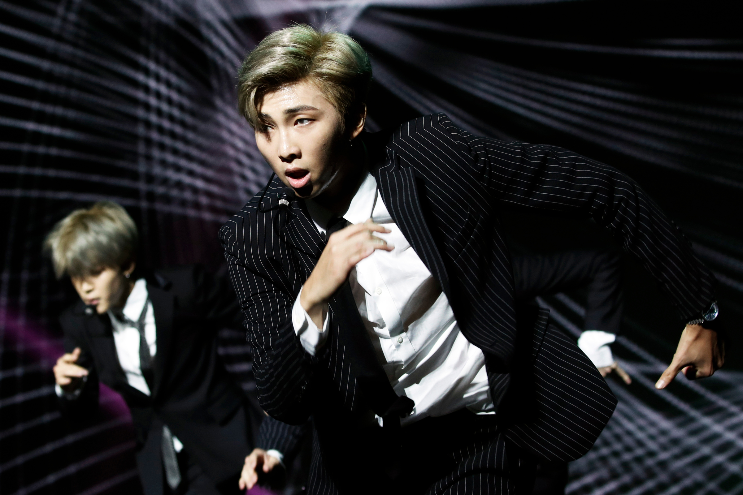 0c0fc4de Members of South Korean pop group BTS perform during a Korean cultural  event in Paris,