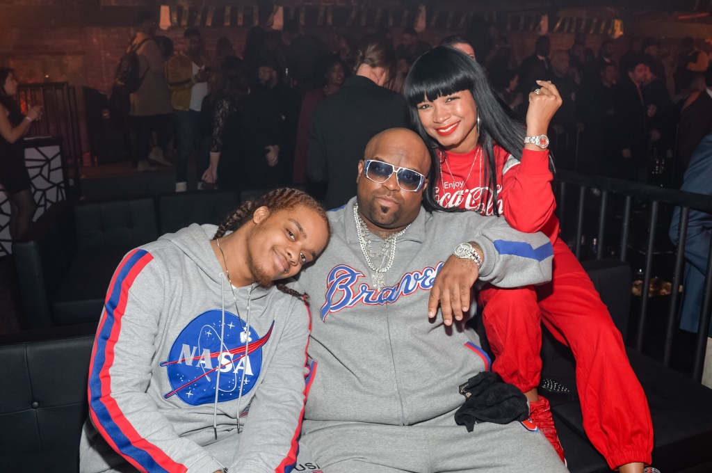 Kingston Green, CeeLo Green and fiancée Shani James hang out at LDV Hospitality's Seville VIP area