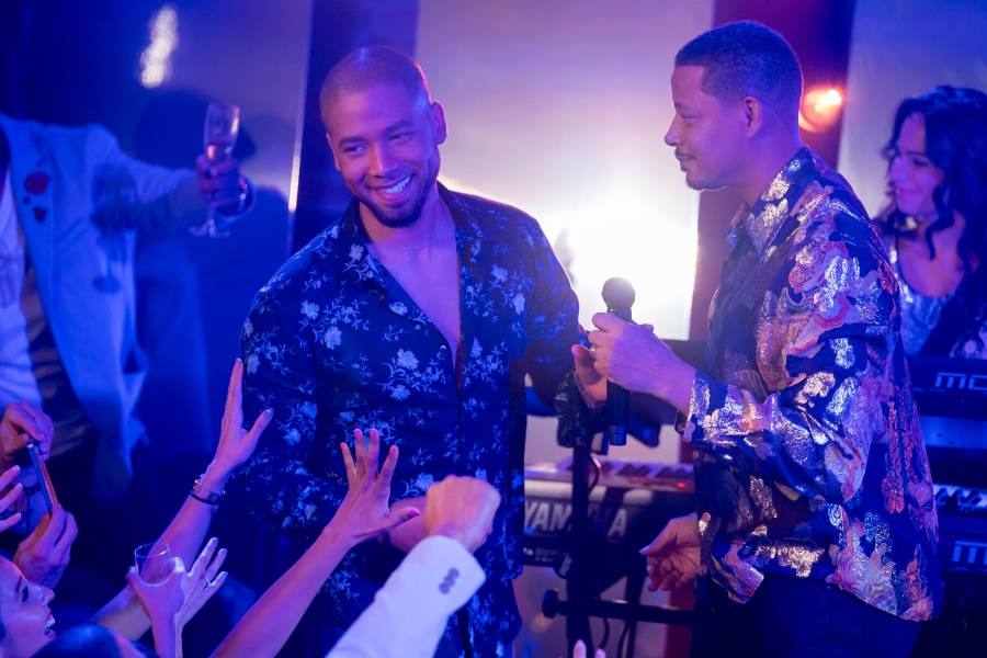 """EMPIRE: L-R: Jussie Smollett and Terrence Howard in the """"The Depth of Grief"""" episode of EMPIRE airing Wednesday, Oct. 31"""