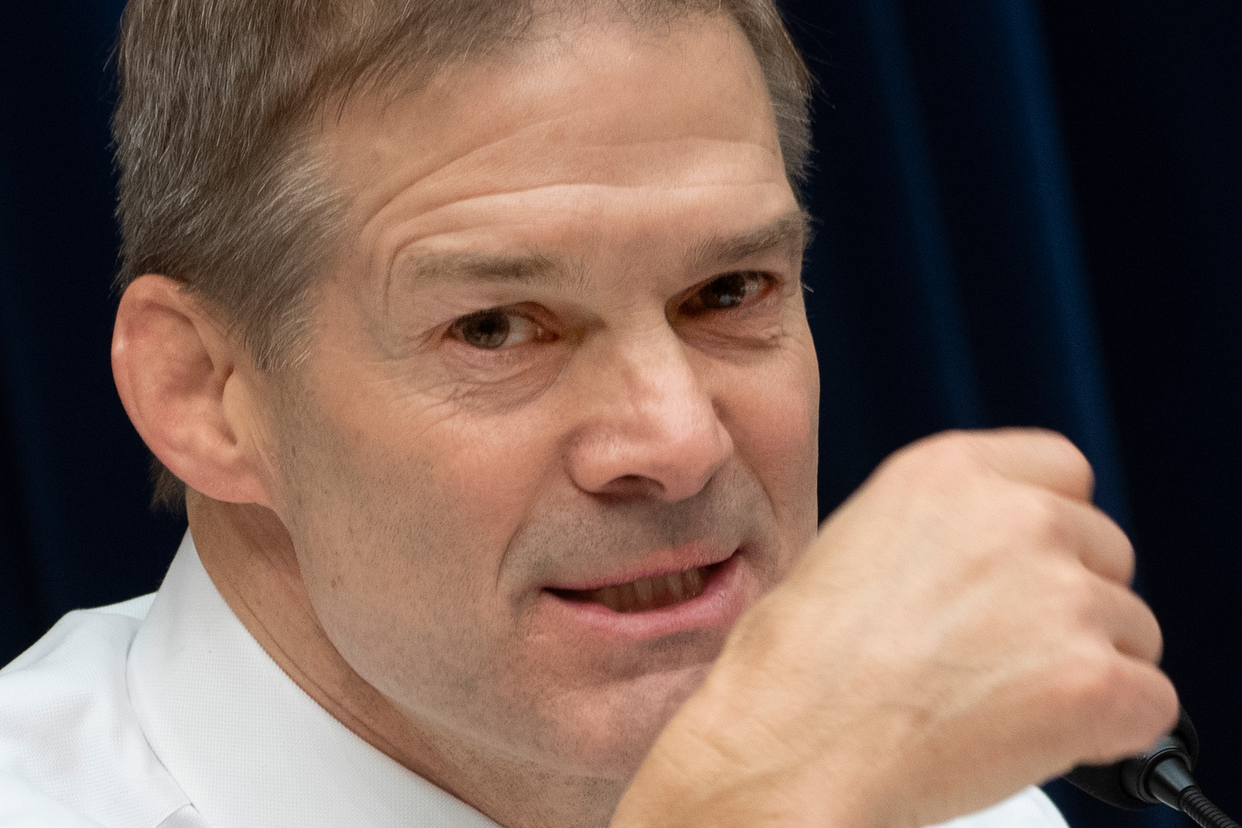 US Congressman and ranking member of the House Oversight and Reform Committee Jim Jordan, Republican of Ohio, questions Michael Cohen, US President Donald Trump's former personal attorney, as he testifies before the committee in the Rayburn House Office Building on Capitol Hill in Washington, DC on February 27, 2019