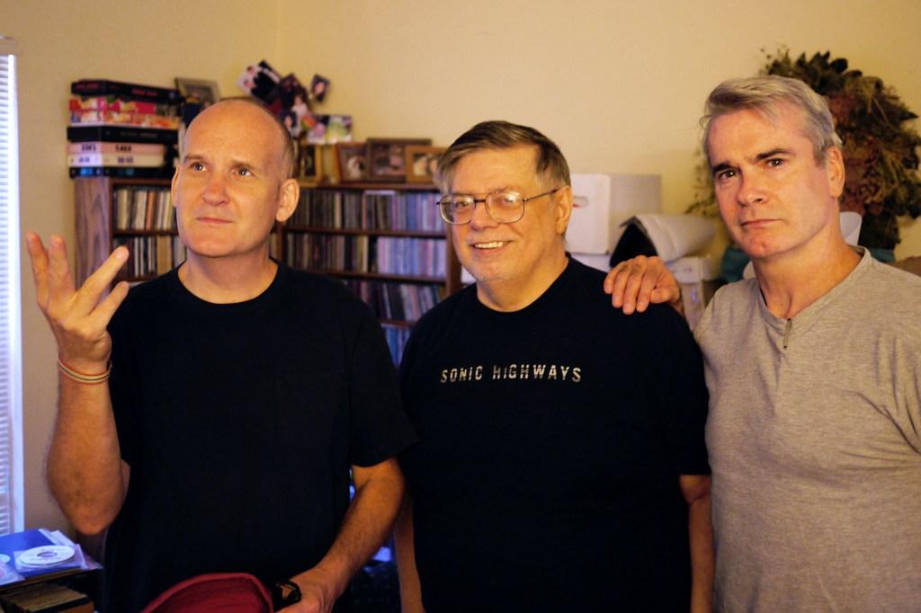 Ian MacKaye, Skip Groff and Henry Rollins.