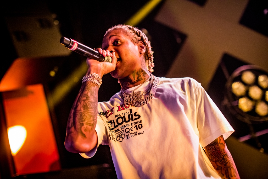 Lil Durk performs at the Fillmore Miami on February 19th, 2019.