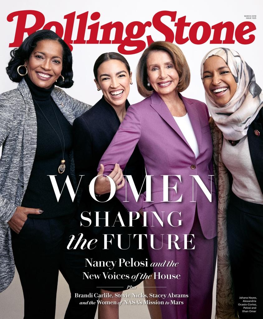 Reps. Jahana Hayes, Alexandria Ocasio-Cortez, Speaker Nancy Pelosi and Rep. Ilhan Omar