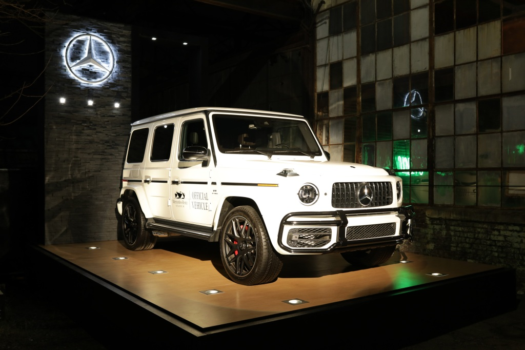 Fans entered the event to see the 2019 Mercedes-AMG G 63