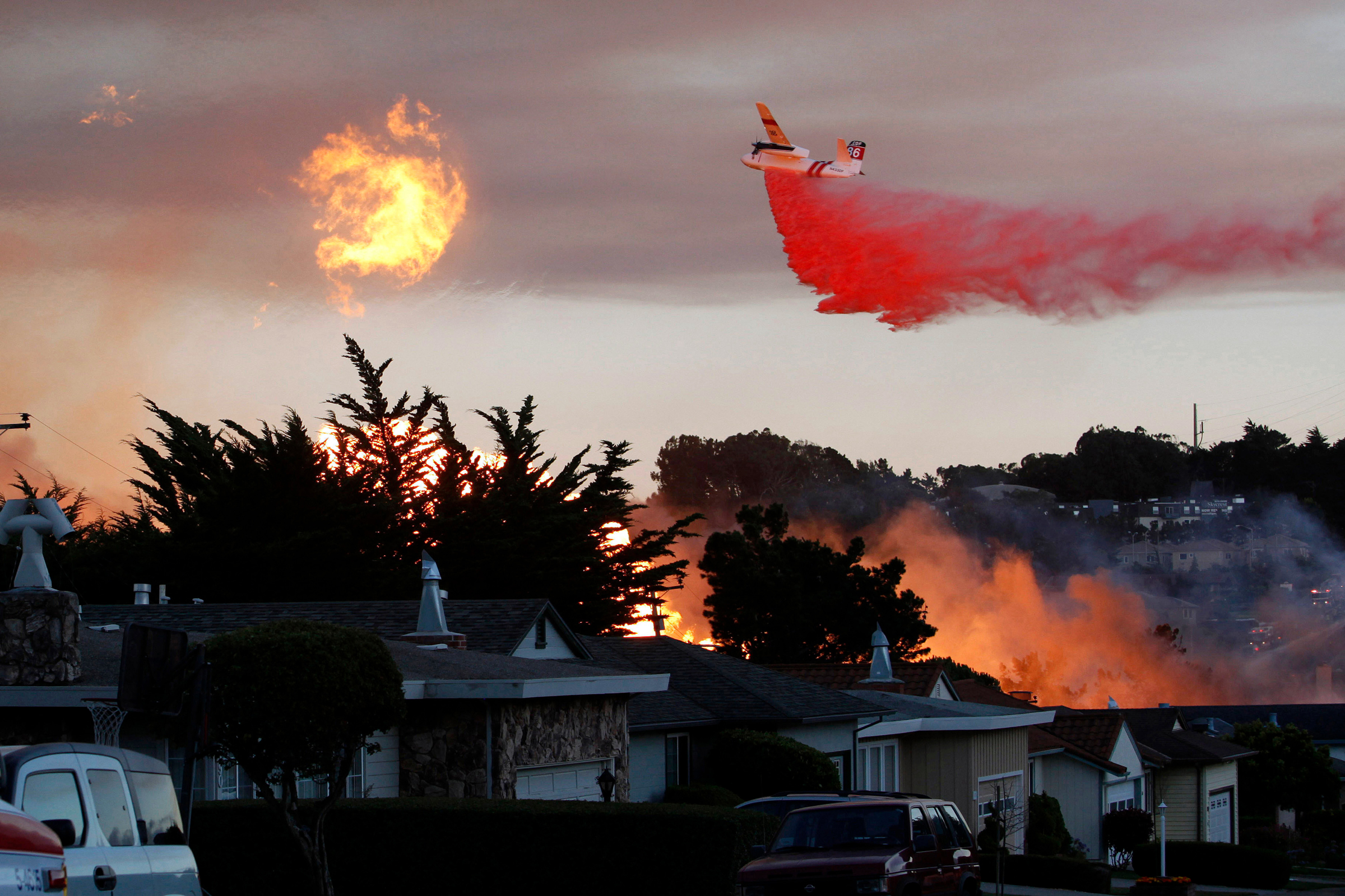 A massive fire following a pipeline explosion roars through a mostly residential neighborhood in San Bruno, Calif. One of the country's largest utility companies is set to face a jury in a criminal trial accusing it of misleading investigators in the wake of a deadly pipeline explosion in the San Francisco Bay Area. The September 2010 blast of a Pacific Gas & Electric Co. natural gas pipeline sent a giant plume of fire into the air in a neighborhood in San Bruno, killing eight people and destroying 38 homes. Opening arguments in the trial beganPipeline Explosion, San Bruno, USA