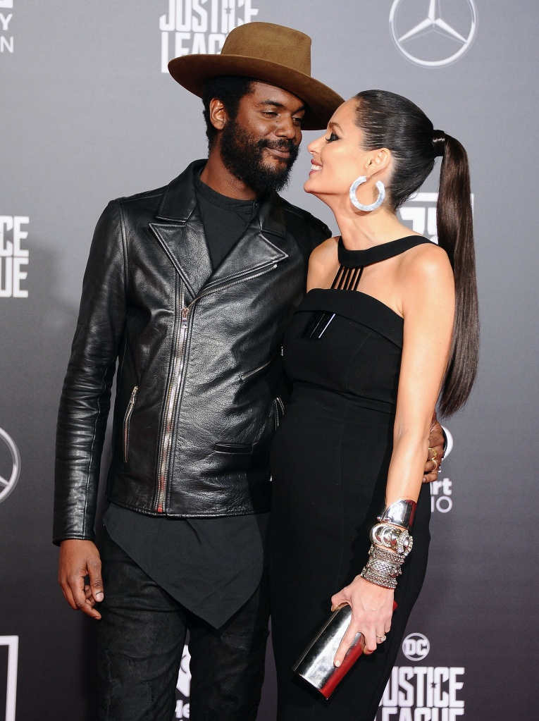 "HOLLYWOOD, CA - NOVEMBER 13: Musician Gary Clark Jr. and wife Nicole Trunfio attend the Los Angeles Premiere of Warner Bros. Pictures' ""Justice League"" at Dolby Theatre on November 13, 2017 in Hollywood, California. (Photo by Jon Kopaloff/FilmMagic)"