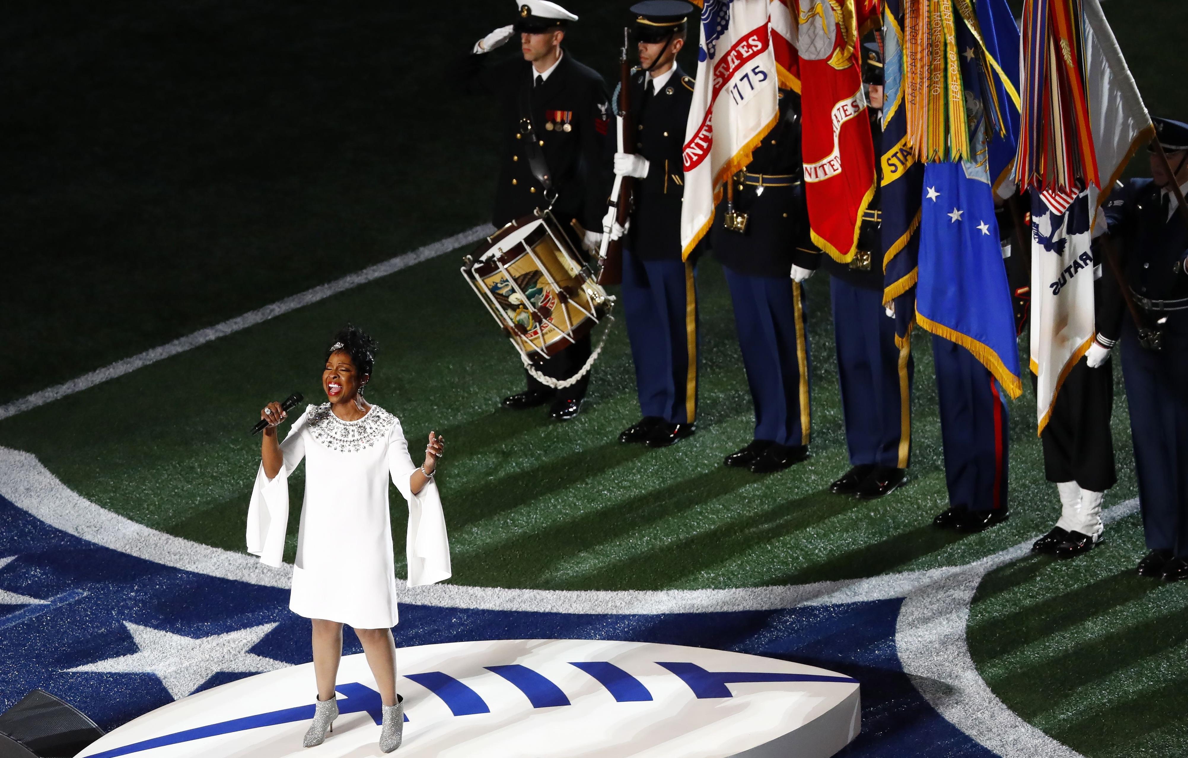 Super Bowl LIII: Watch Gladys Knight Belt Soulful Rendition of National Anthem