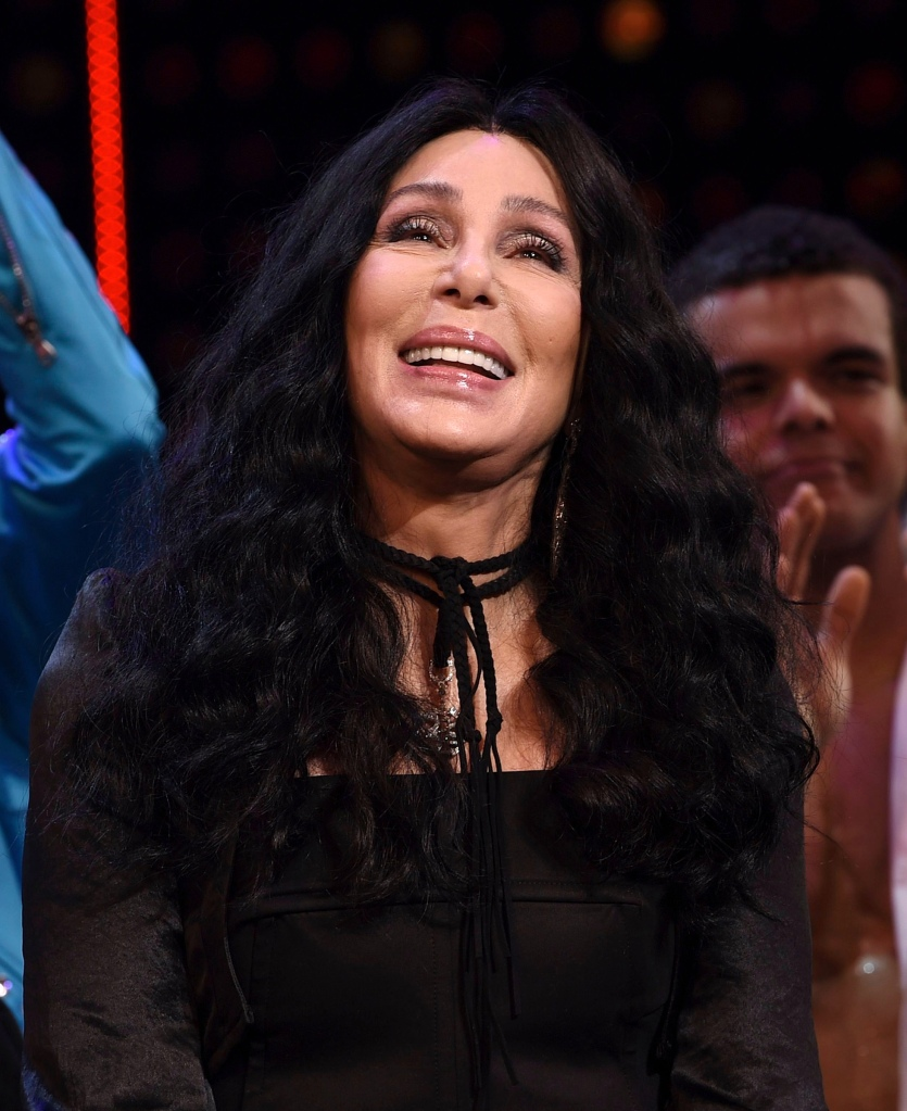 "Cher on stage with designer Bob Mackie during the curtain call for ""The Cher Show"" Broadway musical opening night at the Neil Simon Theatre, in New York""The Cher Show"" Broadway Opening Night, New York, USA - 03 Dec 2018"