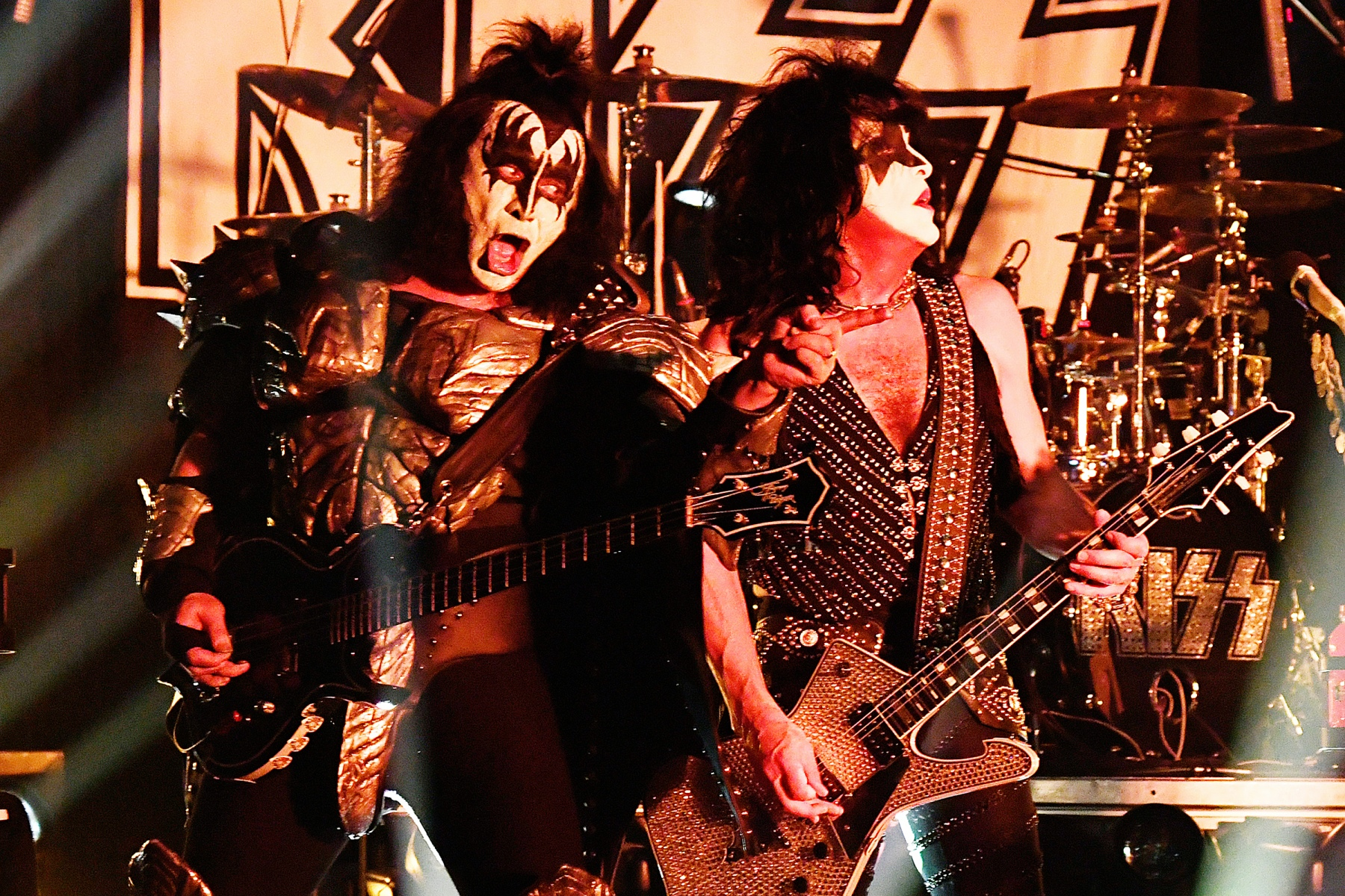WEST HOLLYWOOD, CA - FEBRUARY 11:  KISS performs onstage during KISS Performs Private Concert For SiriusXM At Whisky A Go Go In Los Angeles at Whisky a Go Go on February 11, 2019 in West Hollywood, California.  (Photo by Kevin Mazur/Getty Images for SiriusXM)
