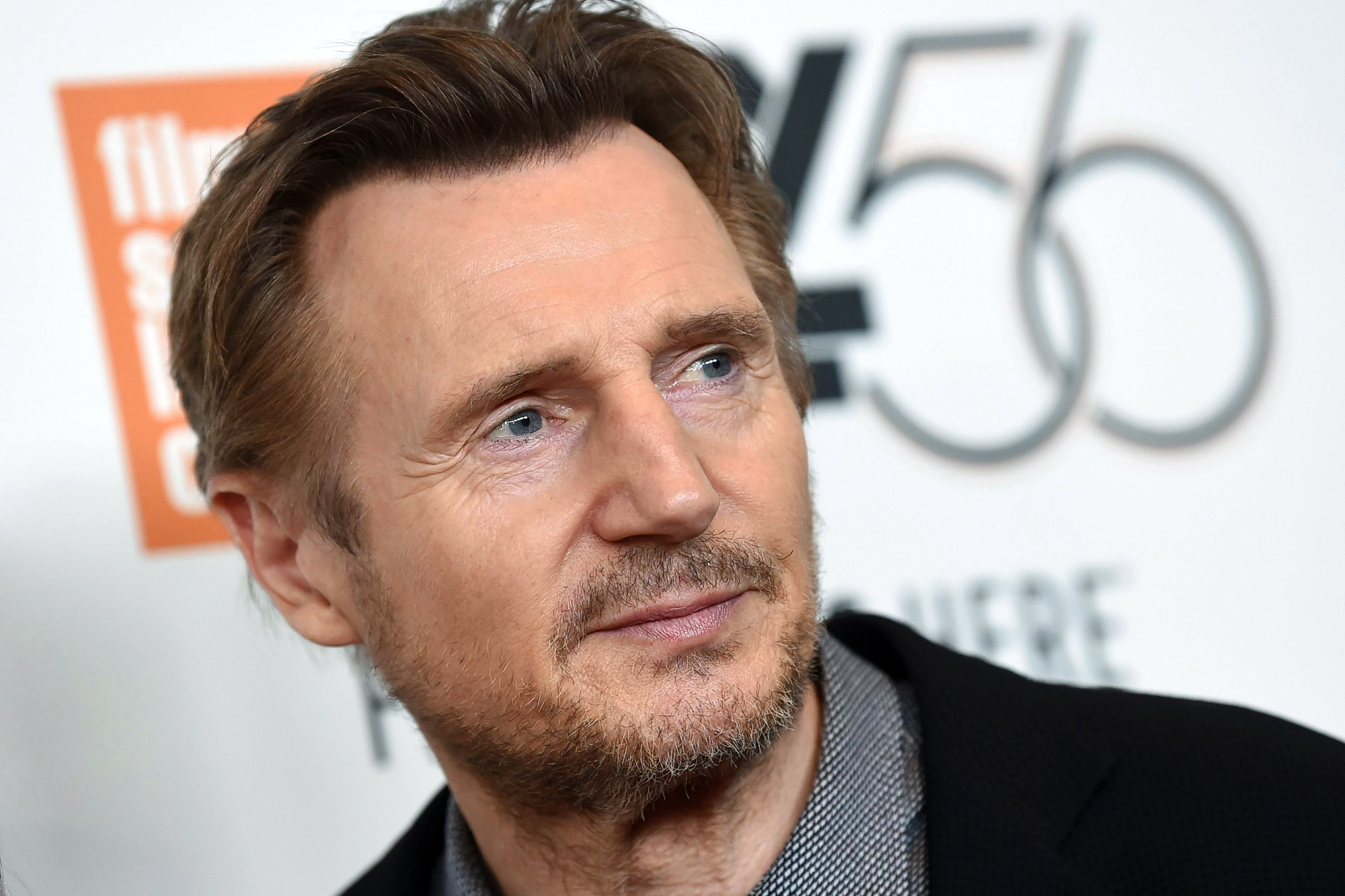 """Liam Neeson attends the premiere for """"The Ballad of Buster Scruggs"""" at Alice Tully Hall during the 56th New York Film Festival, in New York2018 NYFF - """"The Ballad of Buster Scruggs"""" Premiere, New York, USA - 04 Oct 2018"""