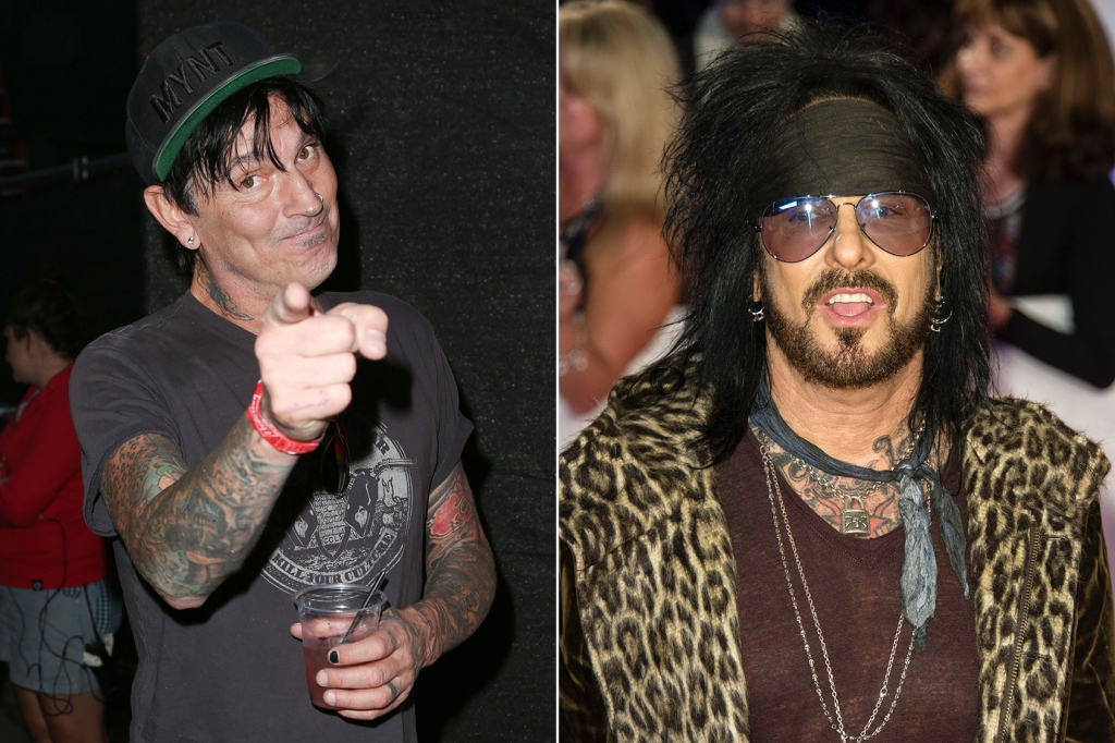 Tommy Lee and Nikki Sixx, 2017.