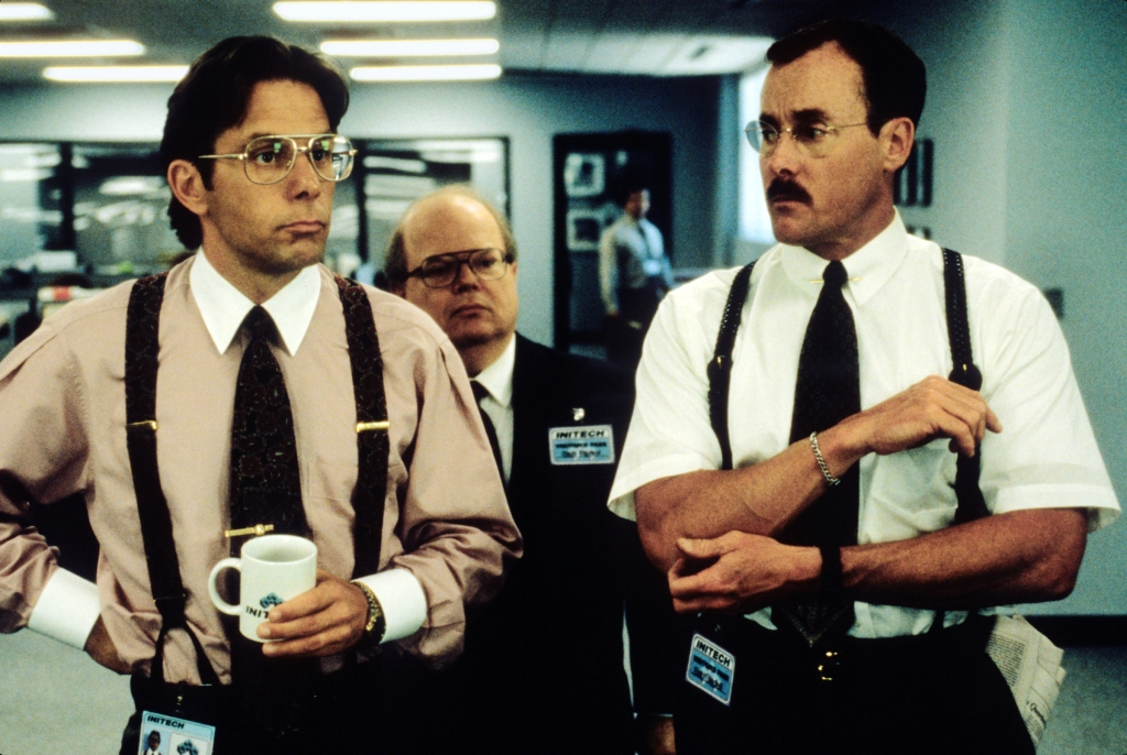 OFFICE SPACE, Gary Cole, Paul Willson, John McGinley, 1999, TM & Copyright (c) 20th Century Fox Film Corp. All rights reserved. Courtesy: Everett Collection.