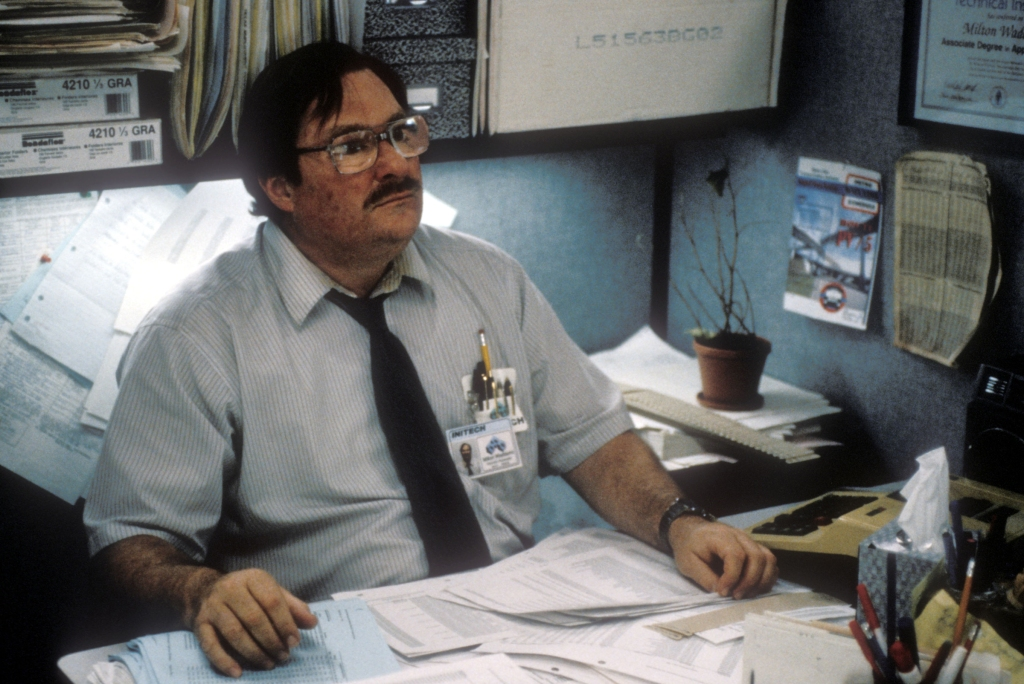 Editorial use only. No book cover usage.Mandatory Credit: Photo by 20th Century Fox/Kobal/REX/Shutterstock (5881652o) Stephen Root Office Space - 1999 Director: Mike Judge 20th Century Fox USA Scene Still Comedy