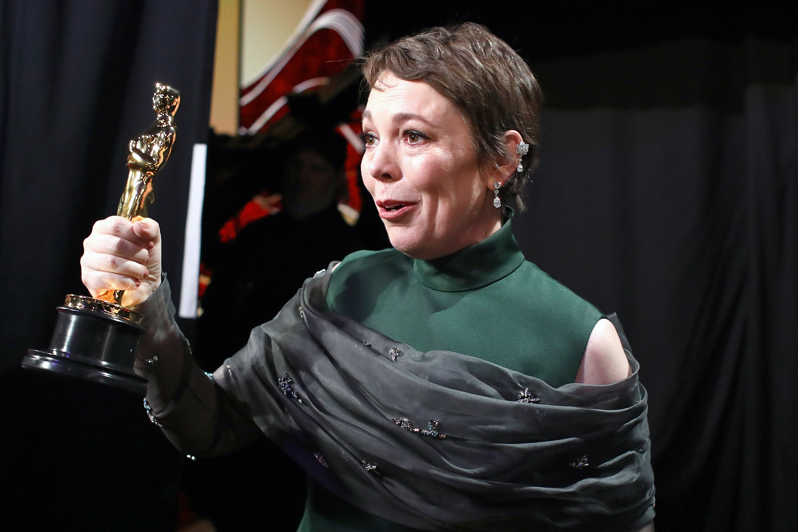 HOLLYWOOD, CA - FEBRUARY 24:  In this handout provided by A.M.P.A.S., Olivia Colman poses with the award for Actress in a Leading Role for 'The Favourite' backstage during the 91st Annual Academy Awards at the Dolby Theatre on February 24, 2019 in Hollywood, California.  (Photo by Matt Sayles - Handout/A.M.P.A.S. via Getty Images)
