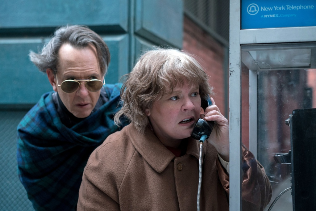 Editorial use only. No book cover usage.Mandatory Credit: Photo by M Cybulski/20thCenturyFox/Kobal/REX/Shutterstock (9927691b)Richard E. Grant as Jack Hock, Melissa McCarthy as Lee Israel'Can You Ever Forgive Me?' Film - 2018When Lee Israel falls out of step with current tastes, she turns her art form to deception. An adaptation of the memoir Can You Ever Forgive Me?, the true story of best-selling celebrity biographer Lee Israel.