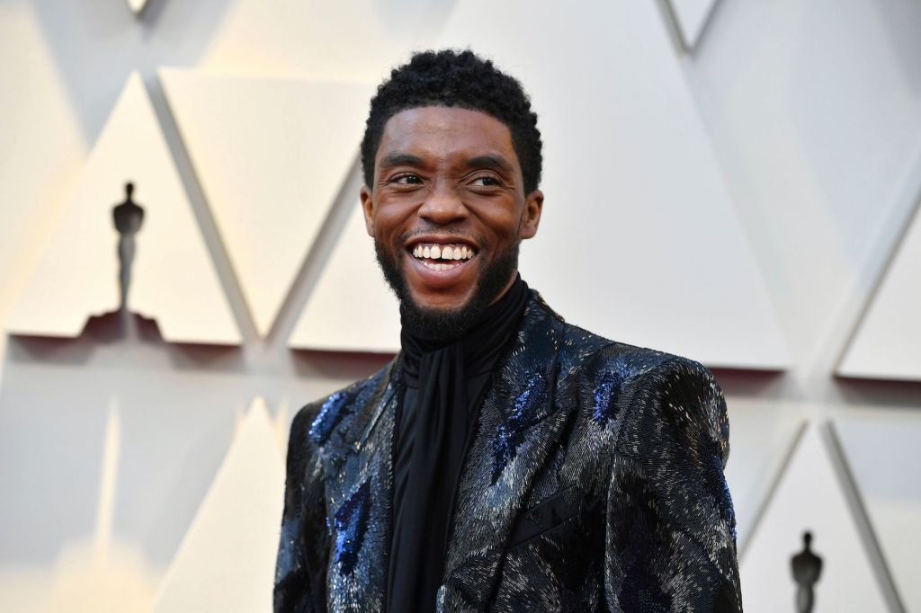 Chadwick Boseman arrives at the Oscars, at the Dolby Theatre in Los Angeles for 91st Academy Awards