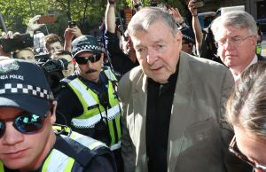 Cardinal George Pell arrives at County Court in Melbourne, Australia, 27 February 2019. Australia's most senior Catholic Cardinal George Pell was found guilty on five charges of child sexual assault after an unanimous verdict on 11 December 2018, the results of which were under a suppression order until being lifted on 26 February 2019.Australia's most senior Catholic Cardinal George Pell found guilty of child sexual assault, Melbourne - 27 Feb 2019