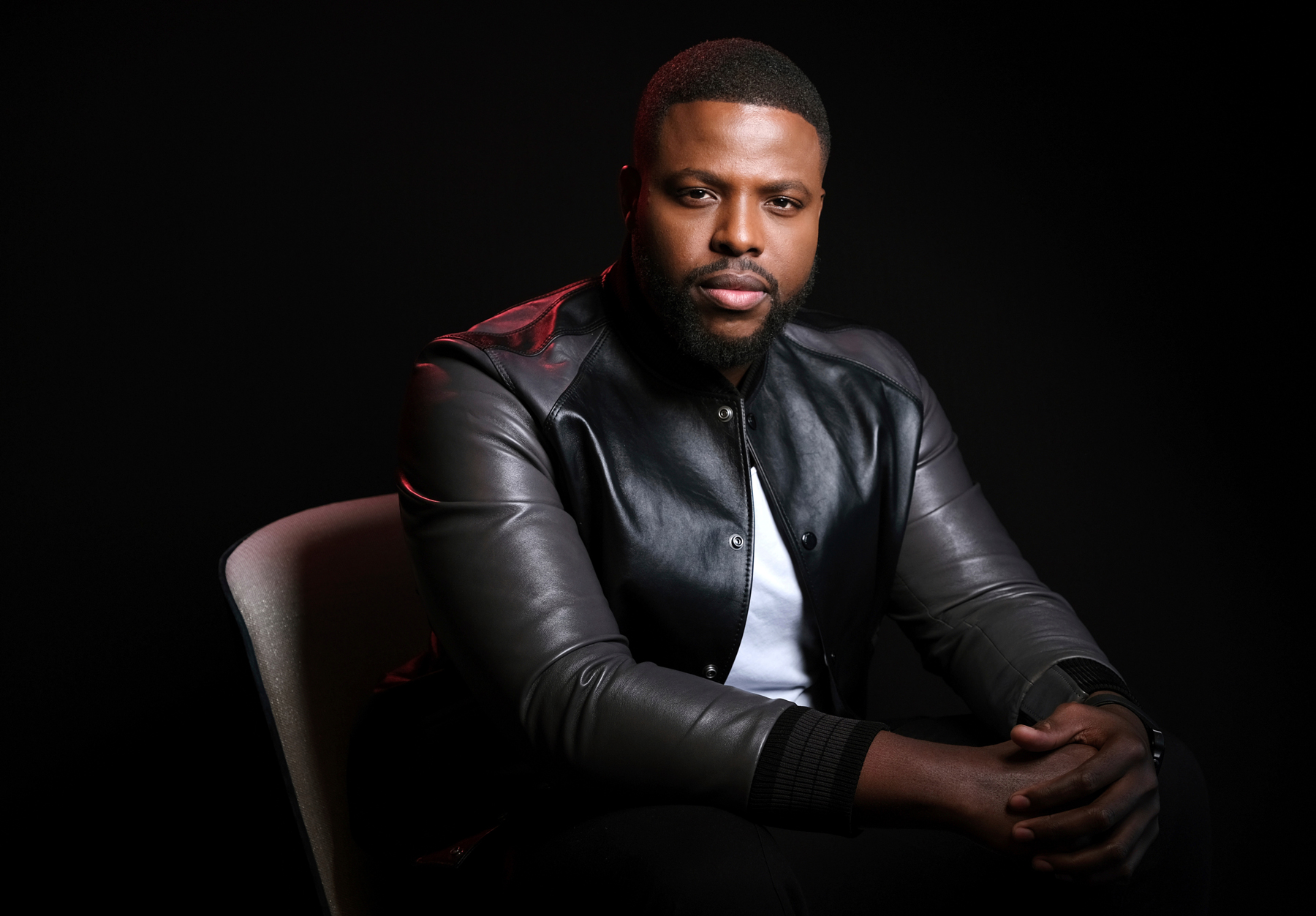 """This photo shows Winston Duke at the """"Us"""" Portrait Session, West Hollywood, March 12th 2019"""