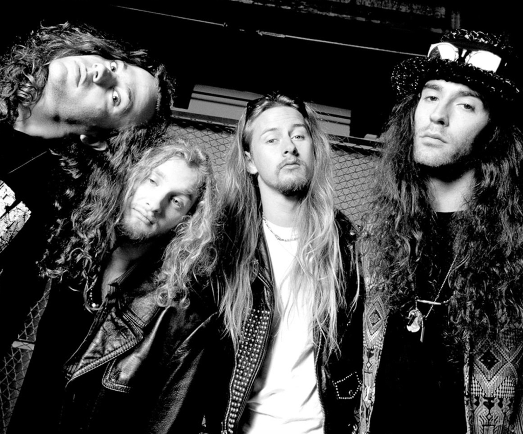 """Mike Starr, Layne Staley, Jerry Cantrell and Sean Kinney (left to right) of Alice in Chains in 1990. """"The vibe of Seattle at this time was much like a family,"""" says Blair. """"Put it this way: Cantrell used to sleep on my couch."""""""