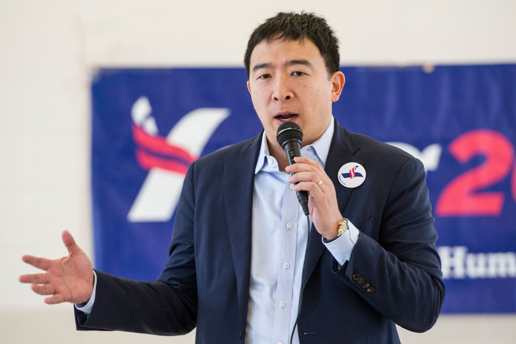 Andrew Yang, a candidate in the Democratic primaries for president, speaks at a town hall meeting sponsored by the Euclid chapter of the NAACP at Christ Lutheran Church in ClevelandElection 2020 Yang, Cleveland, USA - 24 Feb 2019