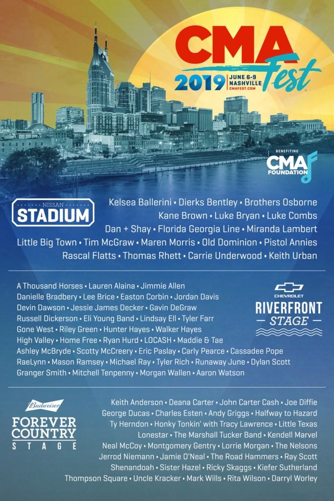 CMA Fest Lineup