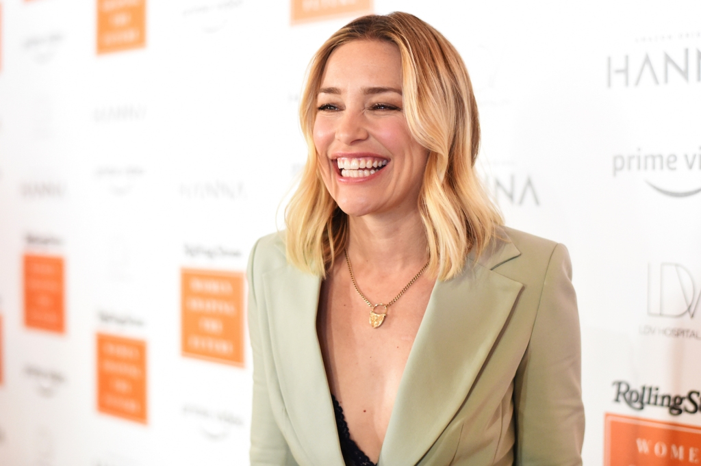Piper Perabo was all smiles upon arrival.