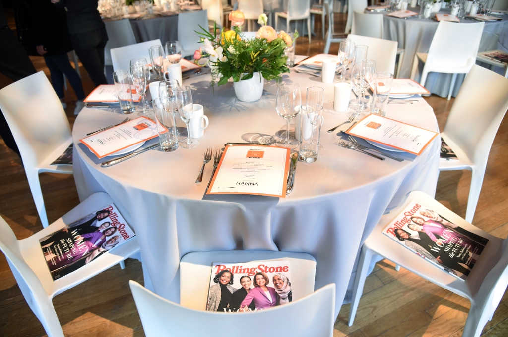 Tables were set with the exclusive brunch menu for the afternoon, catered by LDV Hospitality's Scarpetta Restaurant.