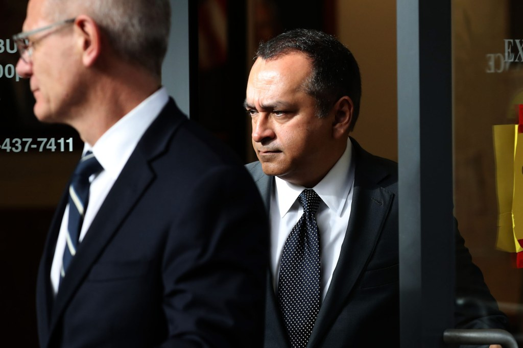 "Former Theranos COO Ramesh ""Sunny"" Balwani leaves the Robert F. Peckham U.S. Federal Court on January 14, 2019 in San Jose, California. Balwani appeared in federal court facing charges of conspiracy and wire fraud for allegedly engaging in a multimillion-dollar scheme to defraud investors with the Theranos blood testing lab services. (Photo: Justin Sullivan/Getty Images)"