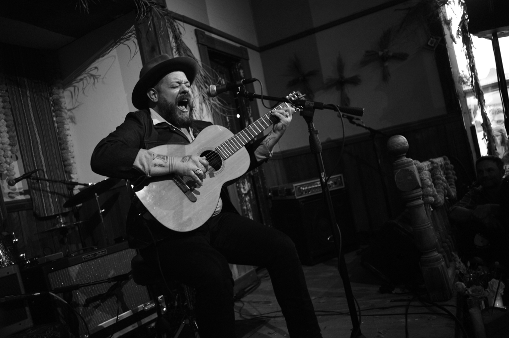 Nathaniel Rateliff performs in the chapel at the Luck Reunion.